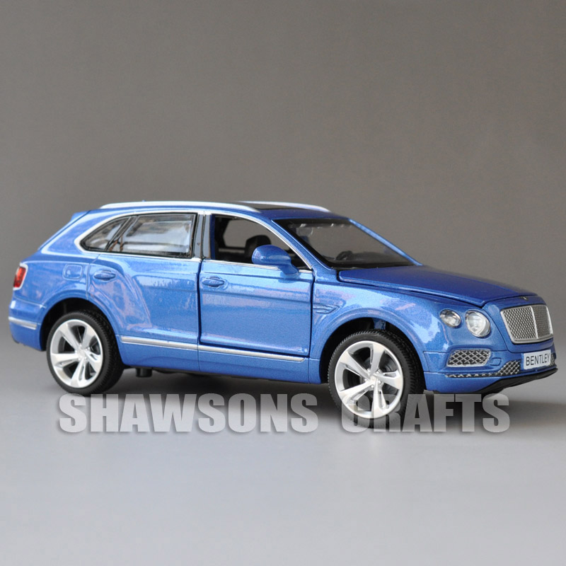 Diecast Metal Car Model Toys 1:34 Bentley Bentayga SUV