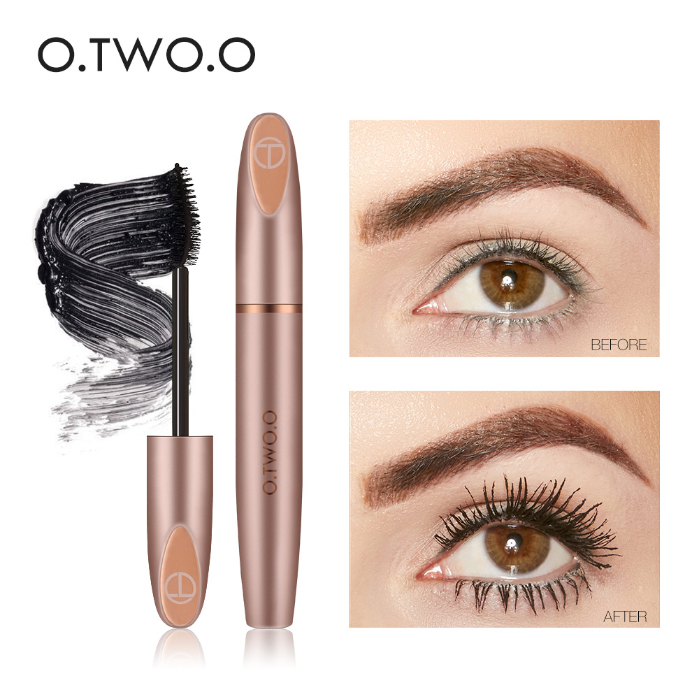 O.TWO.O New 3D Silk Fiber Eyelash Black Mascara Waterproof Long Lasting For Eyelash Extension Black Thick Lengthening Eye Lashes 1