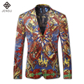 2016 Long Sleeved Blazers Bleiser Hombre Terno Masculino Casual Fashion Slim Fit Party Prom Groom Wedding Dress Suits Jackets