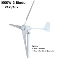 24V 48v 1000W Wind Turbine Generator Home Wind mill system + Wind Charge Controller to charge battery