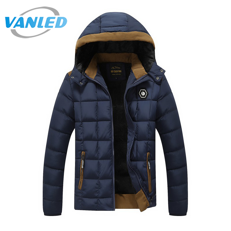 2017 New Brand Mens Winter Jackets and Coats Thicken Warm jacket Men Coat Hooded Cotton-Padded Male Clothing Hommer Parkas 3XL