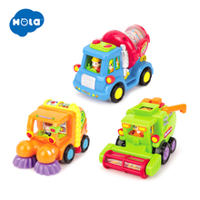 HOLA 386 Wholesale Baby Toys Push & Go Friction Powered Car Toy Trucks Children Pretend Play Toys Great Xmas Gifts set of 5 free shipping baby toys push and go friction powered animal cars fun toys stocking stuffer toys for children 366x