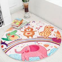 70 см/90 см круглый мягкий коврик для новорожденных с ворсом милый детский игровой коврик с животными из мультфильмов спальное постельное белье детские ковры