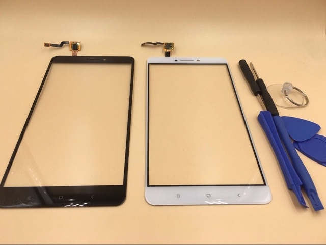 Vannego New Front Glass Lens Panel Touch Screen Digitizer Replacement For XIAOMI MI MAX