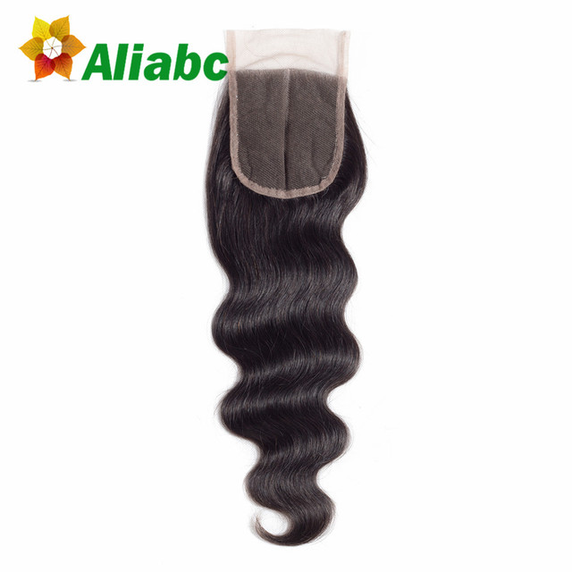 Aliabc Hair Brazilian Body Wave Lace Closure 1 Pcs Natural Color 8-20 Inch 4*4 Non-remy 100% Human Hair Extensions Free Shipping