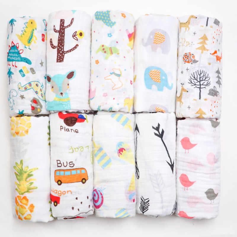Muslinlife Новое поступление 2018 одеяло для новорожденного хлопок напечатано мягкое одеяло 2ply мягкое одеяло чехол для коляски
