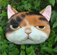 Fashion Creative Meow Star People Pillow Cover Cat Head Shaped Pillow Soft Cotton 3D Cats Face