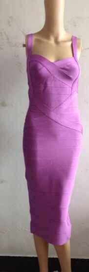 2016 新パープルスパゲッティストラップクロスミディレーヨン包帯ドレス orange 白黒赤ヌードベビーブルーロイヤルブルードレス