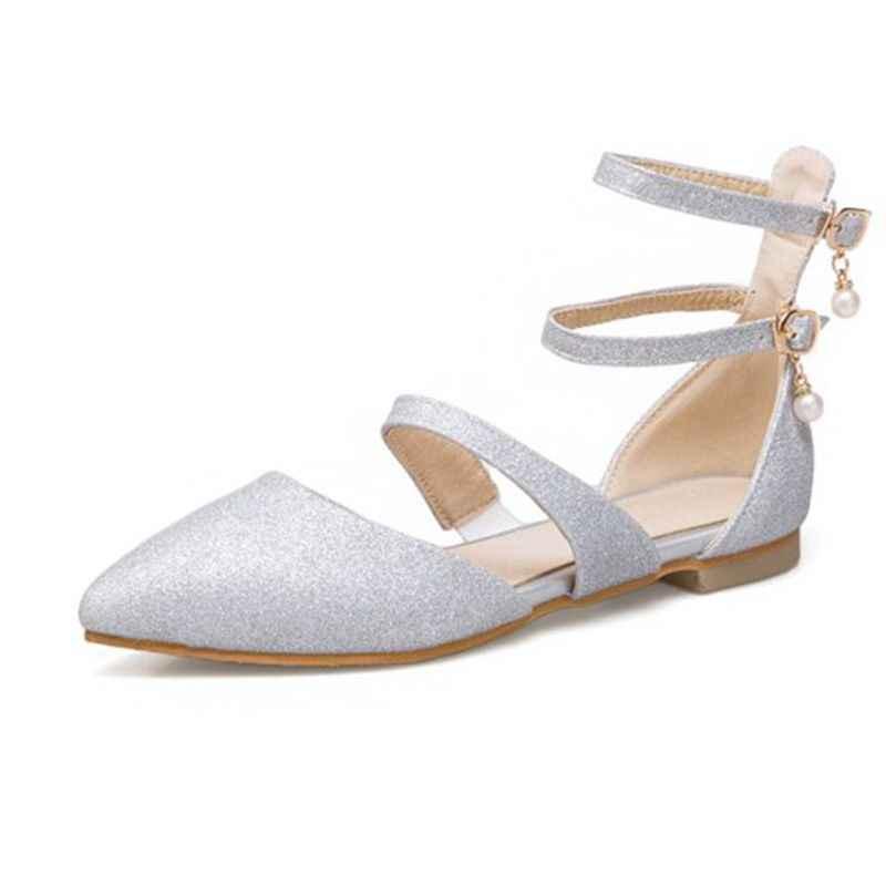 BLXQPYT/распродажа; маленькие и большие размеры 31-50; летние женские балетные туфли с острым носком; сезон весна-осень; женская обувь; T751