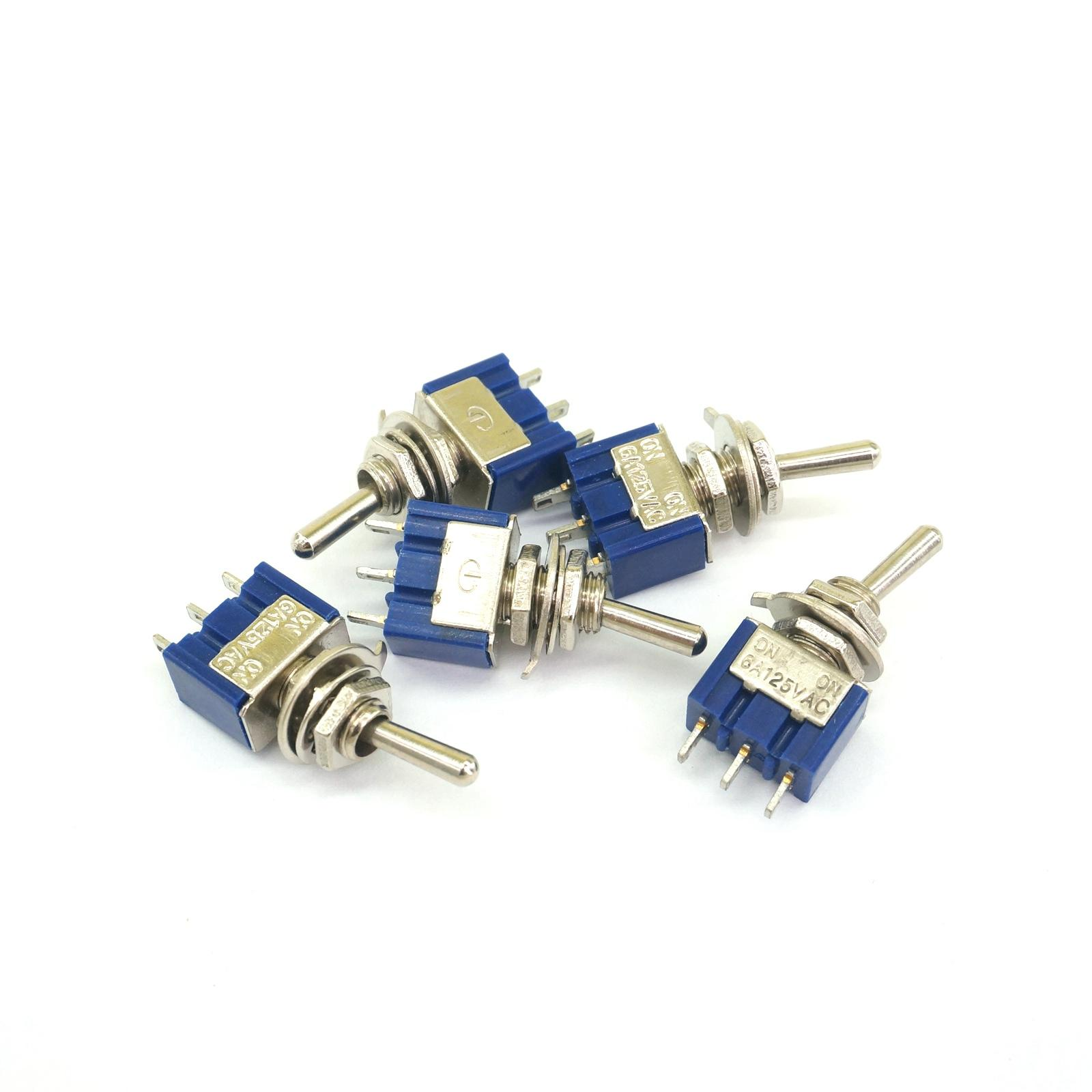 5pcs mts 102 3 pin single pole double throw on on 6a 125vac mini toggle switch [ 1600 x 1600 Pixel ]