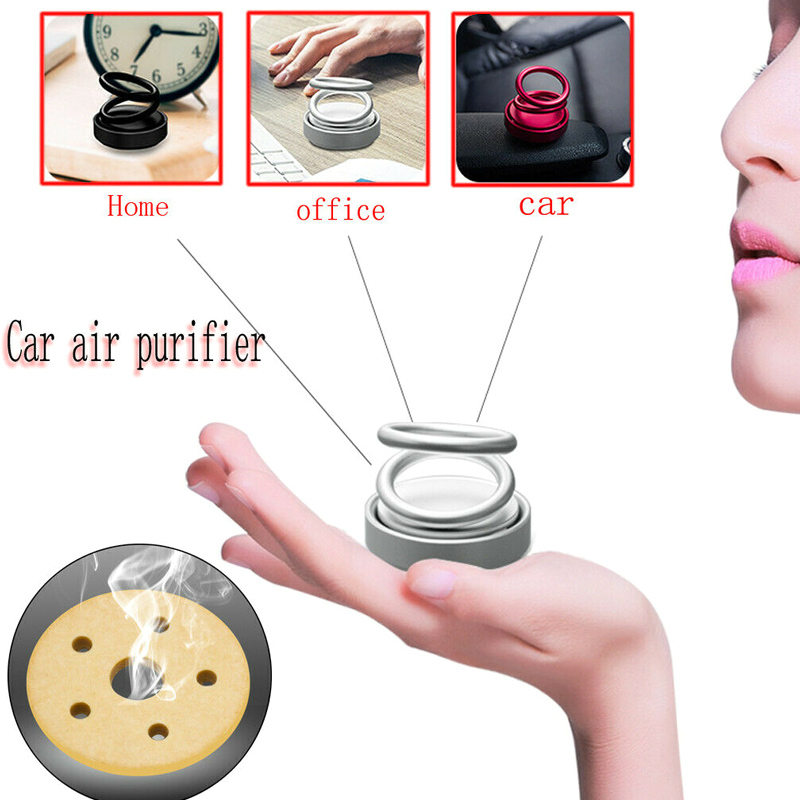 2019 High end Double Ring Rotating Designed Car Air Purifier Car Fragrance Air Freshener CSL88