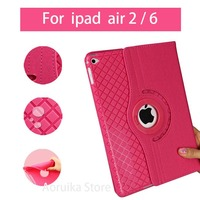 New Case Cover For IPad Air 2 IPad 6 PU Leather Flip Stand 360 Rotating Detachable