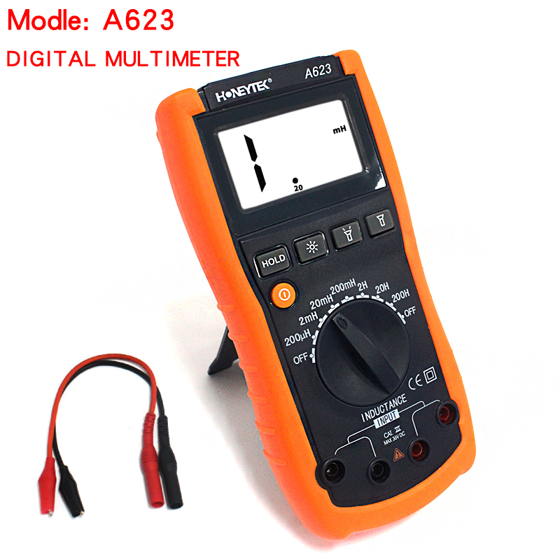 A623 Digital multimeter Inductance Meter tester LCR Meter Triode test Backlight withe work light планшет samsung galaxy tab tab e sm t561 8gb white sm t561nzwaser