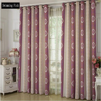 European Style Flower All Match Jacquard Fabric Cloth Curtains For Bedroom Modern Simple Healthy Shade Chenille