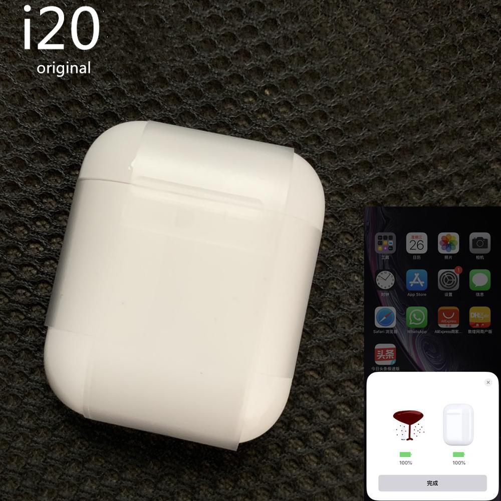 I20 TWS Bluetooth écouteurs sans fil PK w1 puce i30 i60 i12 pop up LK-TE9 écouteurs 1:1 PK i11 i13 i14 tws avec coque en silicone