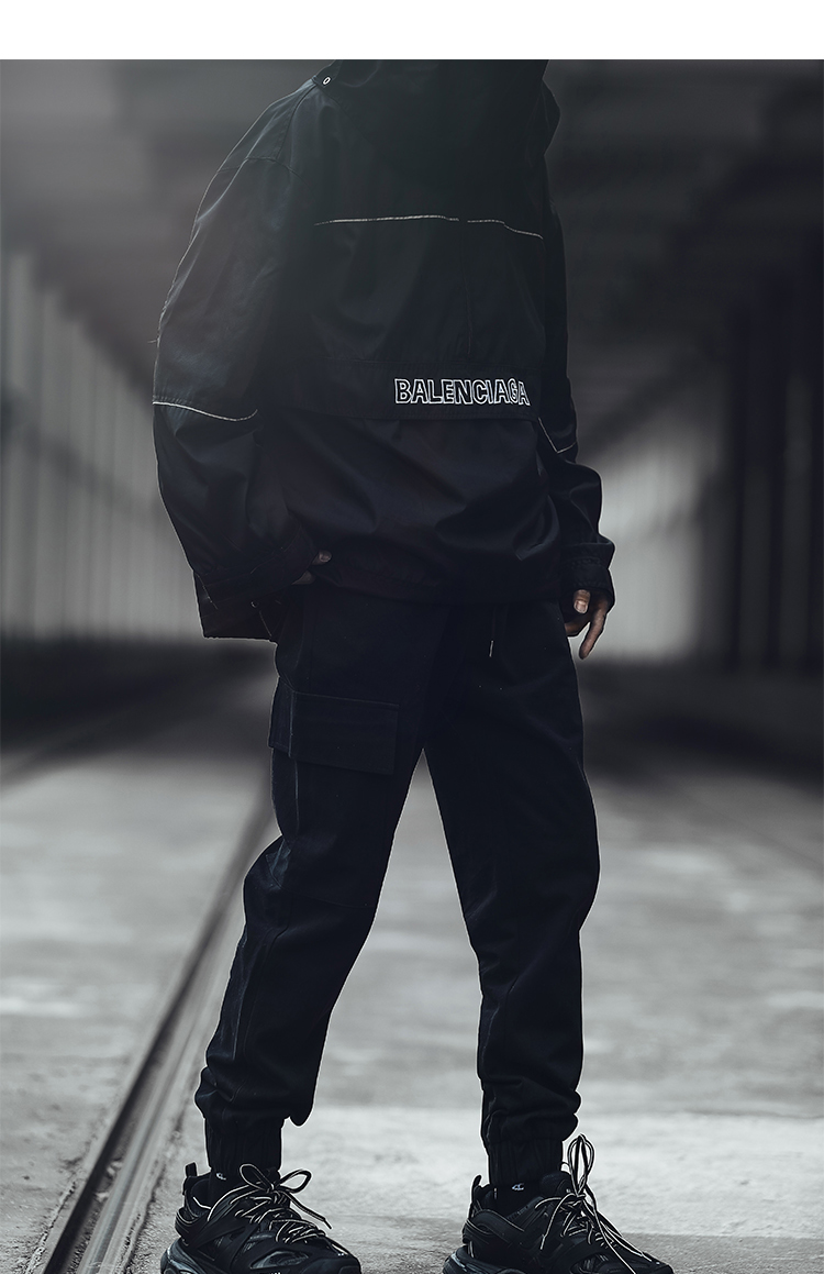Balenciaga Navy Logo Track Jacket MiLANSTYLE COM