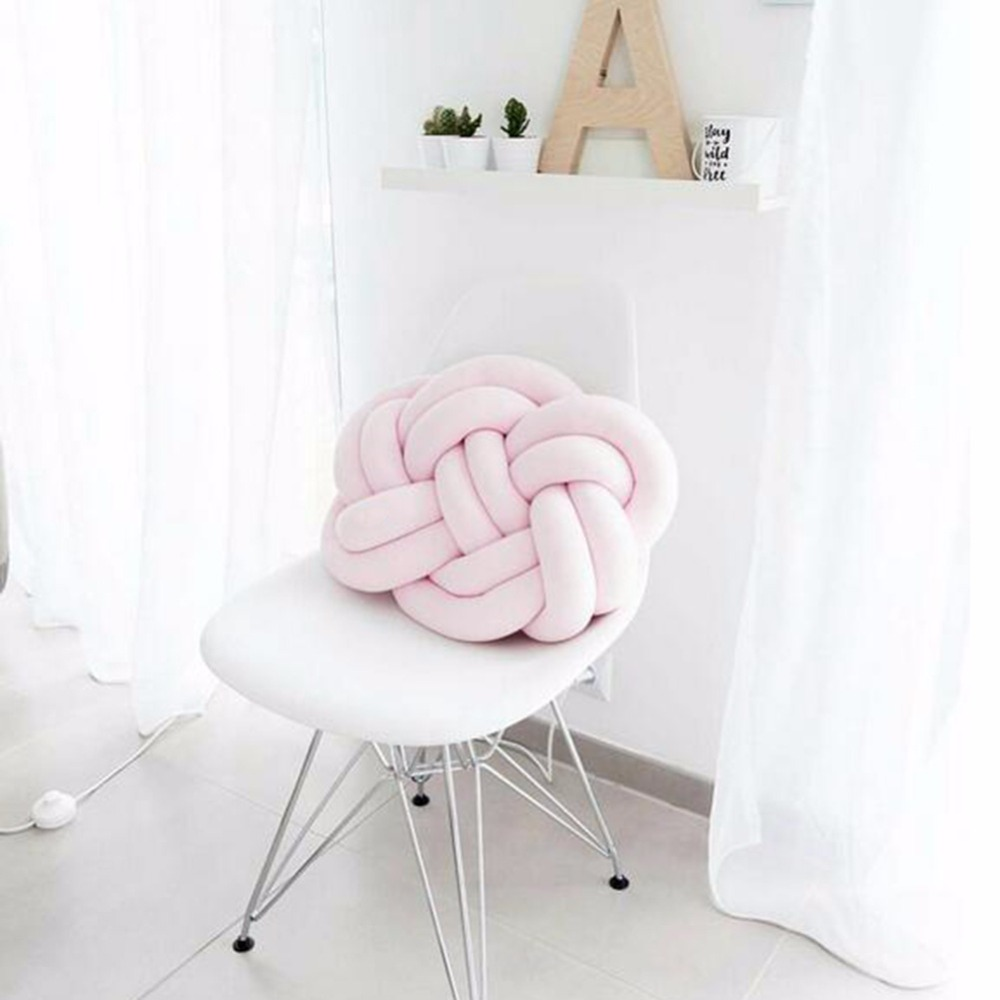 Babies Room Accessories Us 23 01 22 Off Nordic Baby Room Decor Baby Pillow Head Protection Knot Cushion Photography Accessories Newborn Kids Children Bedroom Decoration In