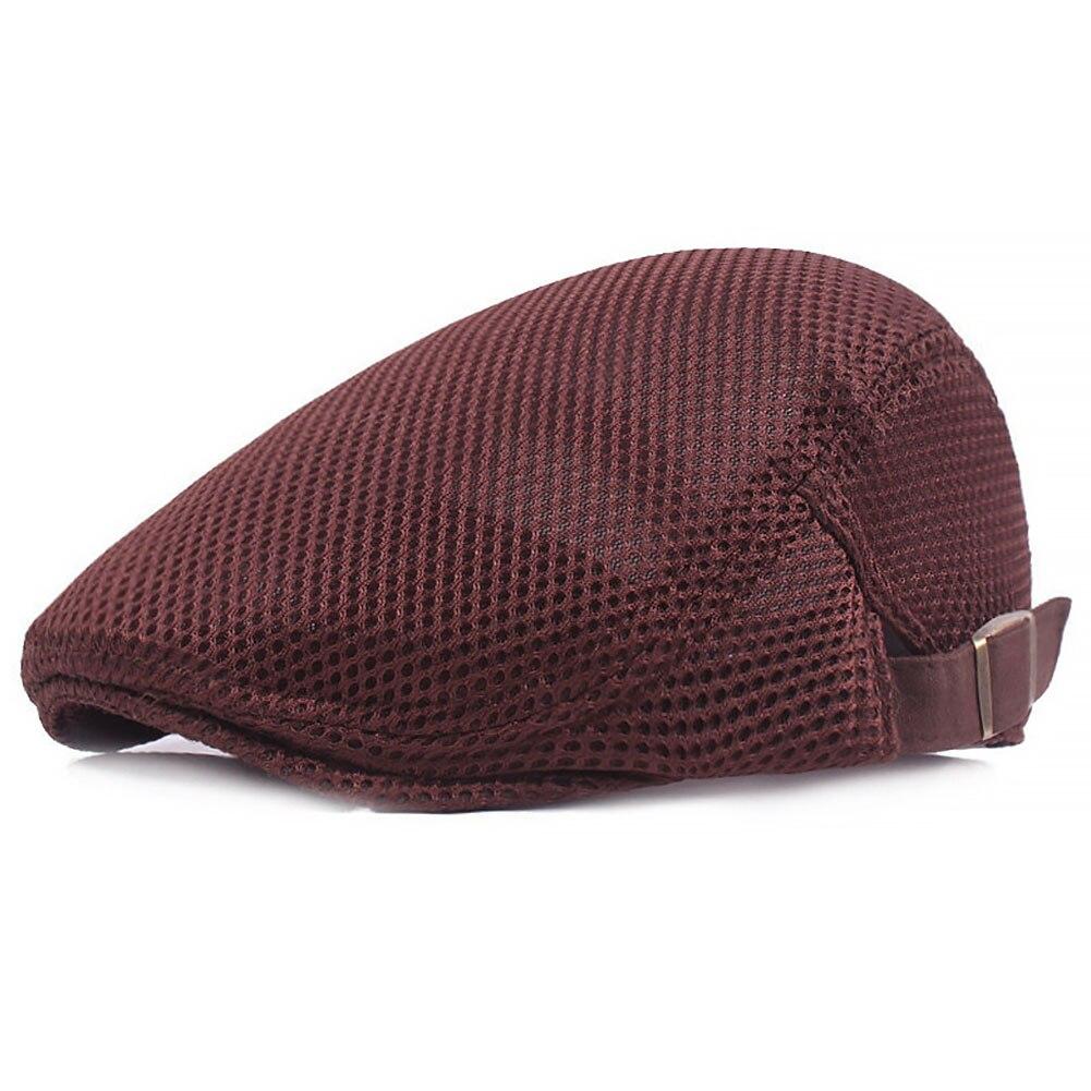 Visiere Kopfbedeckungen Für Herren Unisex Zeitungsjunge Einfache Sommer Atmungs Fabala Flache Kappe Bequeme Hut Mesh Alle Spiel Berets Cap Dauerhafte Modellierung