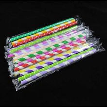 1000pcs Disposable straws, paper, environmentally friendly paper individual packaging, colored straws
