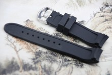 Soft Great Quality Silicone Rubber Diver silicone arc Watch Strap for Casio EQW-M710L 22mm/24mm