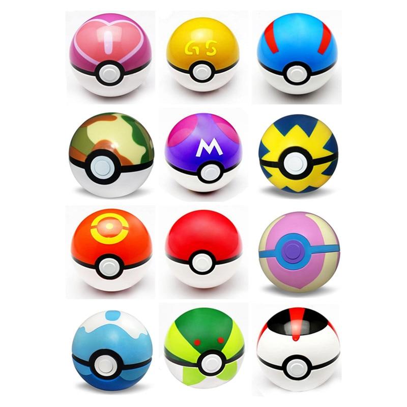 12pcs 7CM Pokemon <font><b>Pokeball</b></font> Juguetes Toy <font><b>Pokeball</b></font> with Mini Model <font><b>Anime</b></font> <font><b>Action</b></font> <font><b>Figure</b></font> <font><b>Pikachu</b></font> <font><b>PokeBall</b></font> For Kids Toys Gift