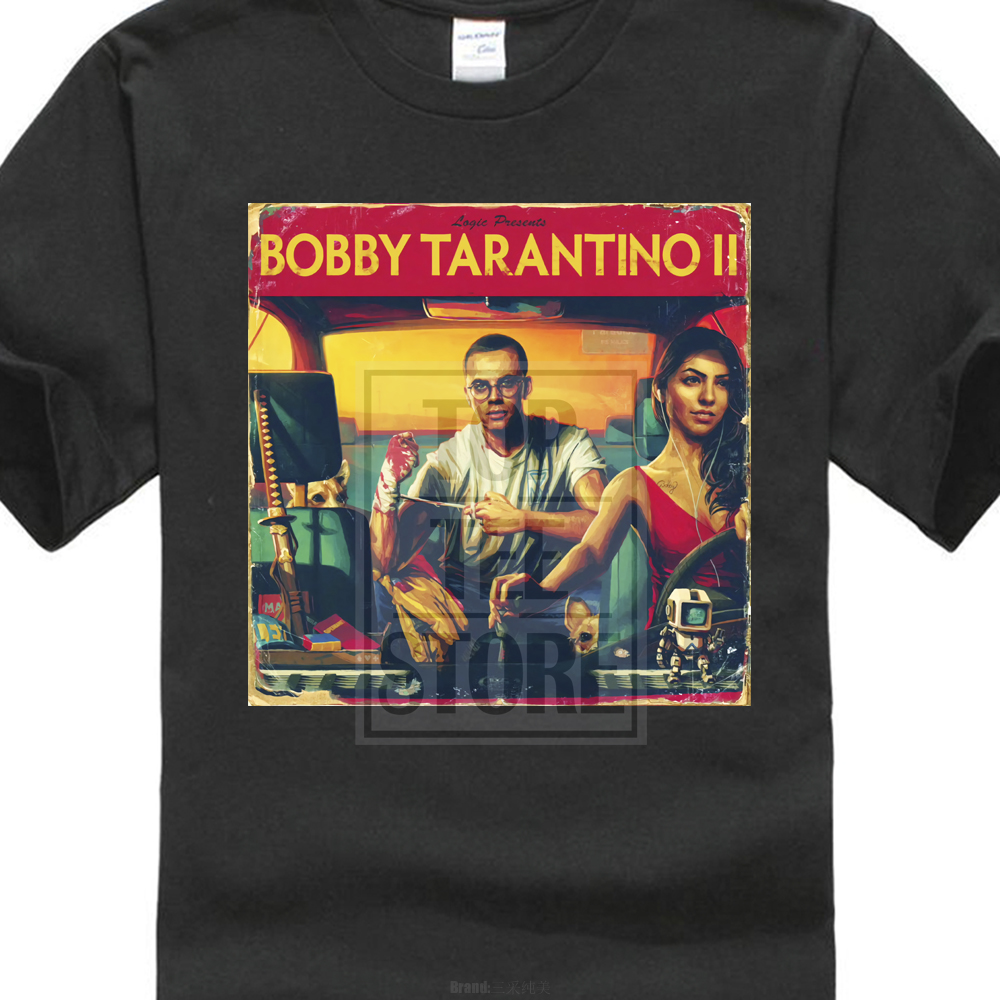 Logic Bobby Tarantino ii Gildan Black T Shirt Size M To 2Xl