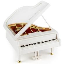 лучшая цена Mechanism Piano Music Box Classical Vintage Movement Girl Ballerina Music Box carrossel Piano Model Ration Girl Music Boxes