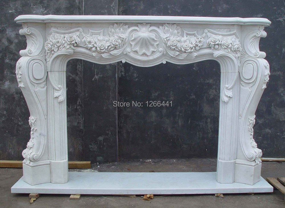 marble fireplace mantel carved stone living room fireplace deluxe  style(China (Mainland)) - Popular Marble Fireplace Mantels-Buy Cheap Marble Fireplace