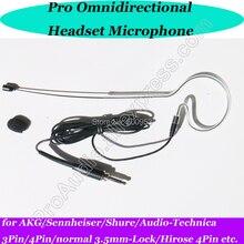 MiCWL Black Single ear hook Wireless Headset Microphone for Sennheiser Shure AKG 3Pin 4Pin 3.5mm Omnidirectional capsule