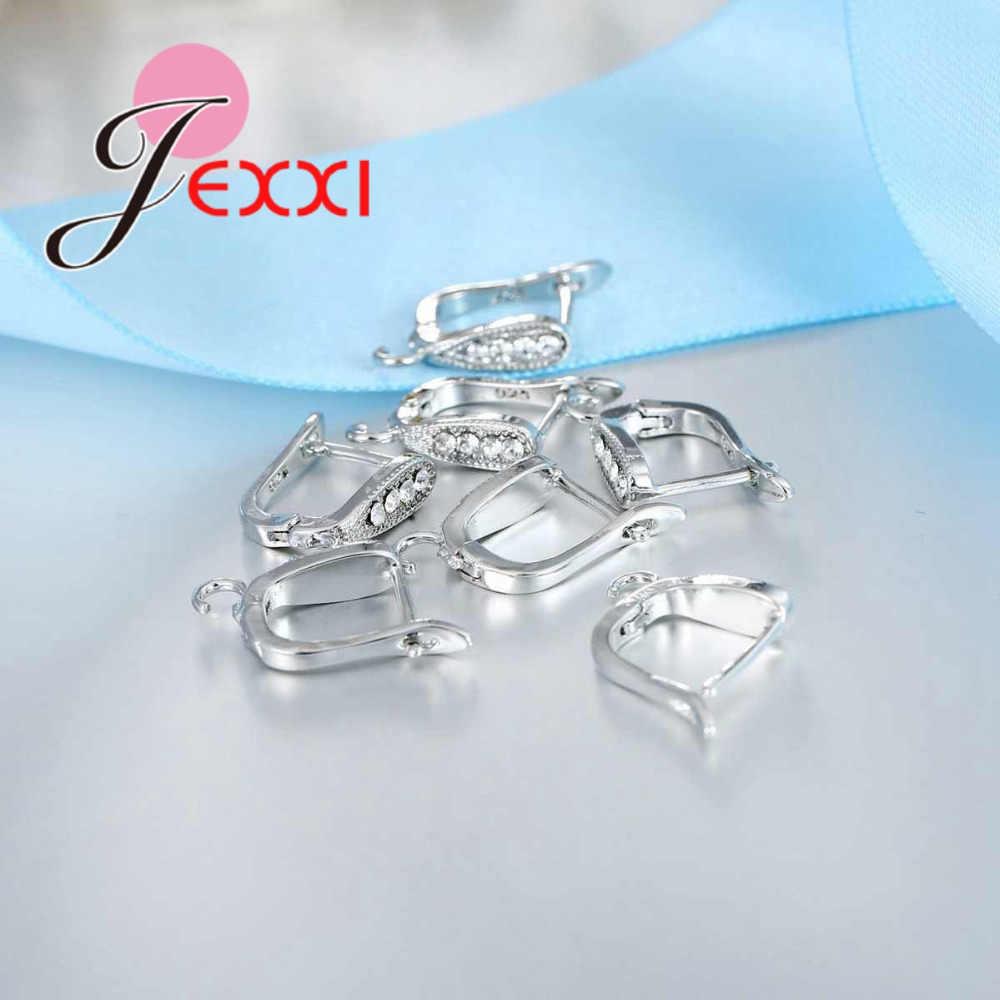 Nuevo aro para la oreja de Plata de Ley 925 a la moda, joyería para encontrar piedra de cristal circón cúbico, pendiente en forma de U, componentes hechos a mano