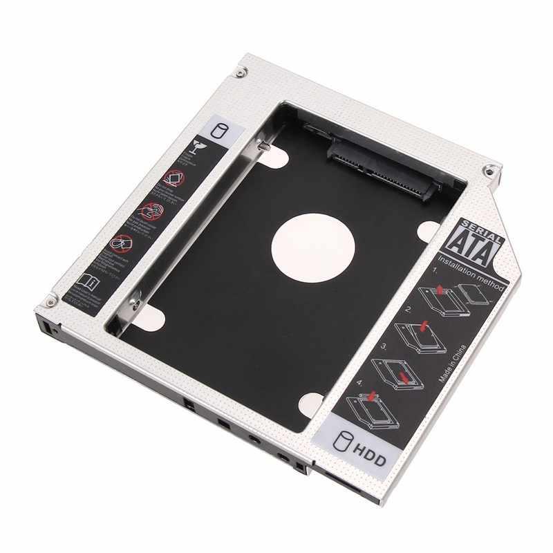 2019 الألومنيوم SATA 2nd HDD HD القرص الصلب العلبة علبة حالة محول ل العالمي 2.5 '12.7 ملليمتر لأجهزة الكمبيوتر المحمول الغريب DVD/CD-ROM Optibay