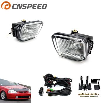 CNSPEED Fog light For HONDA CIVIC 1996-1998  2/3/4DR Yellow/Clear Fog lamp Driving Lamp with Switch YC100477