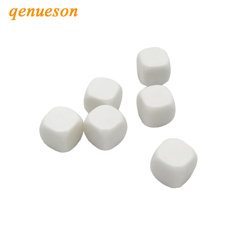 10Pcs Lot 20mm Blank Dice White Rounded Corner D6 Can Write White Blank Dice Board Games Creative Children Teching DIY Dice Sets in Dice from Sports Entertainment