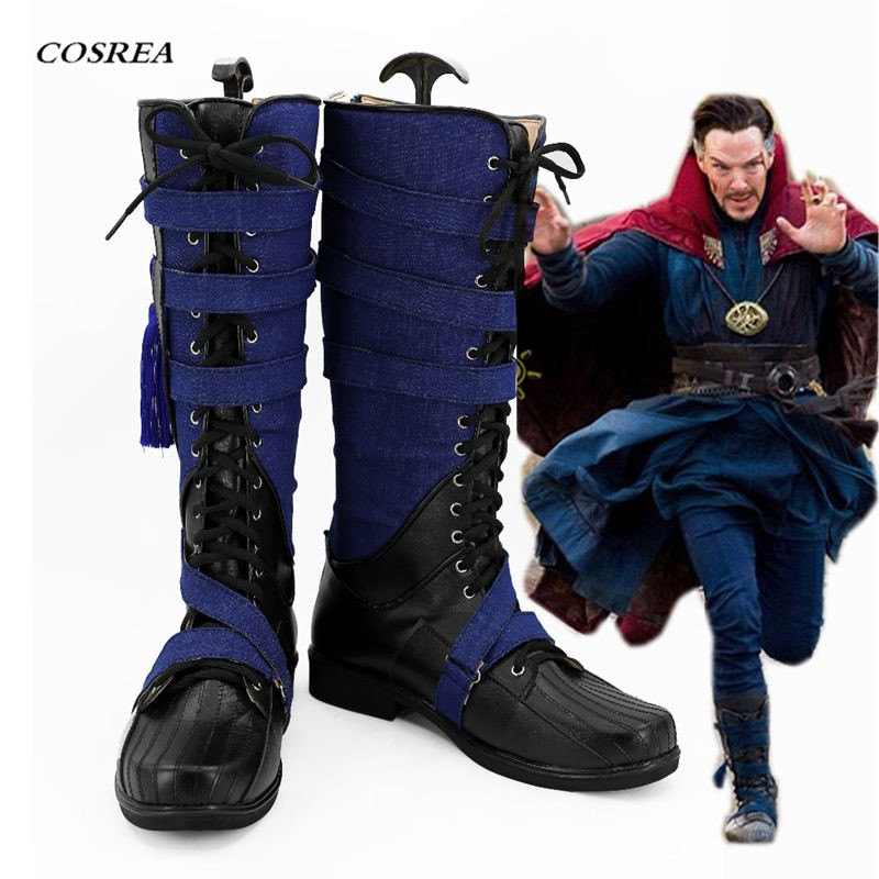 COSREA Doctor Strange Cosplay Dr Cosplay Shoes Superhero Stephen Steve Vincent The Avengers Infinity War Boots