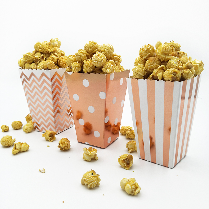 36pcs Metallic Rose Gold Popcorn Box Pop Corn Scoop Popcorn Bar Carnival Party Decor Circus Birthday Party Hollywood Movie Night36pcs Metallic Rose Gold Popcorn Box Pop Corn Scoop Popcorn Bar Carnival Party Decor Circus Birthday Party Hollywood Movie Night