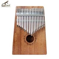 Gecko 17 Key Kalimba African Thumb Piano Finger Percussion Keyboard Music Instruments Kids Marimba Wood