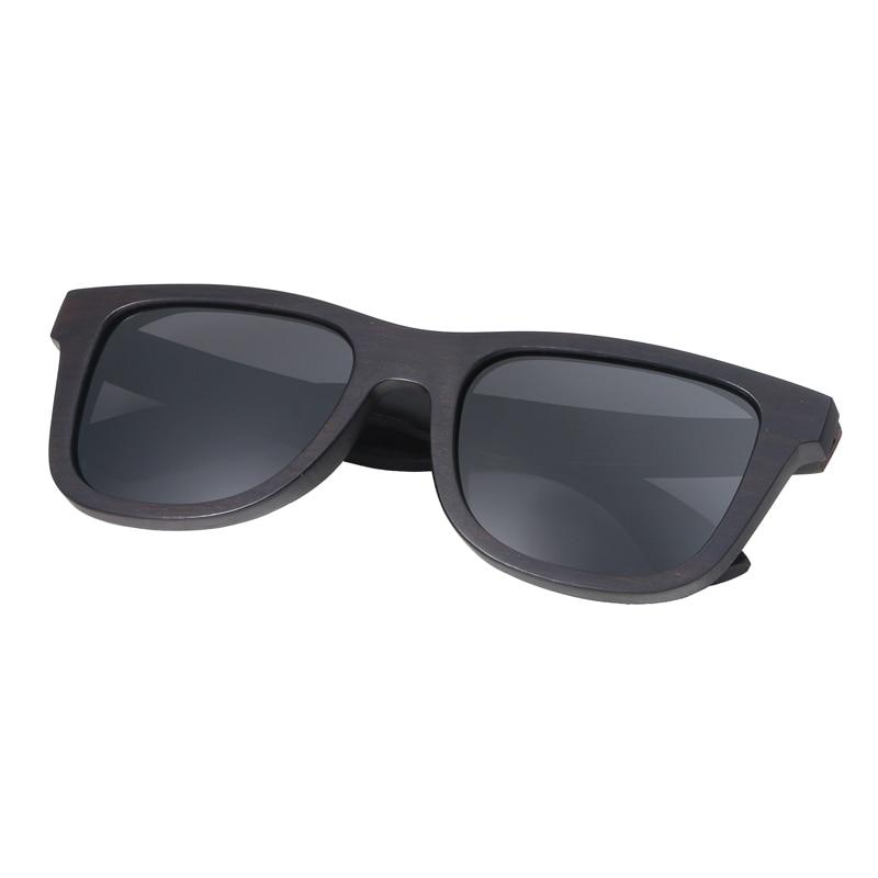 BerWer 100% Natural Ebony Wooden Sonnenbrille Unisex Polarized Sun - Bekleidungszubehör - Foto 3