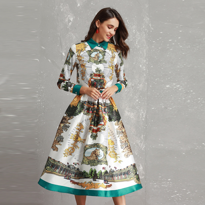 Americano Abiti Primavera Di 2019 Abbigliamento E New Donna Set Al Estate  Moda Maniche A Stampato ... 83785f95984