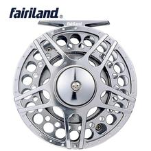 цена на 70 80 90 100mm 3BB fly fishing reel CNC Machined Aluminum fly reel 1/2 3/4 5/6 7/8 w/ INCOMING CLICK L/R Hand interchangeable