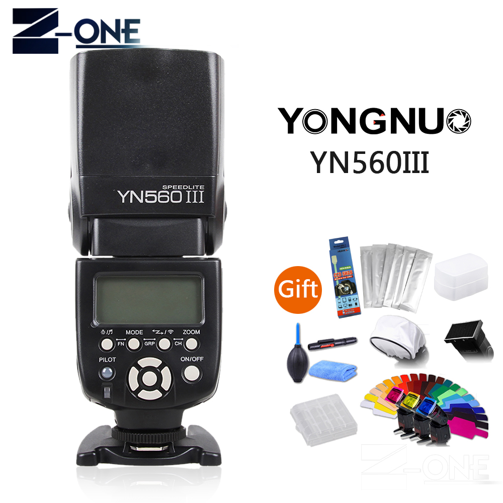 Yongnuo YN-560III Professional Flash Speedlight Flashlight Yongnuo YN 560 III for Canon Nikon Pentax Olympus Camera Free Gift