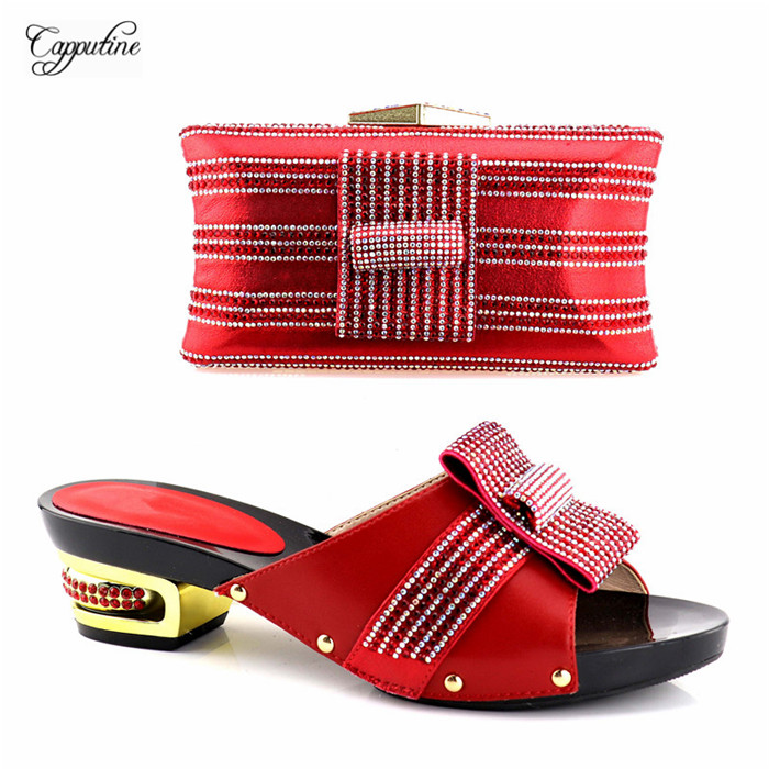 Charming wedding/party red pump shoes with evening handbag set YH2018-04 in red, heel height 5,3cm, 5 colorCharming wedding/party red pump shoes with evening handbag set YH2018-04 in red, heel height 5,3cm, 5 color