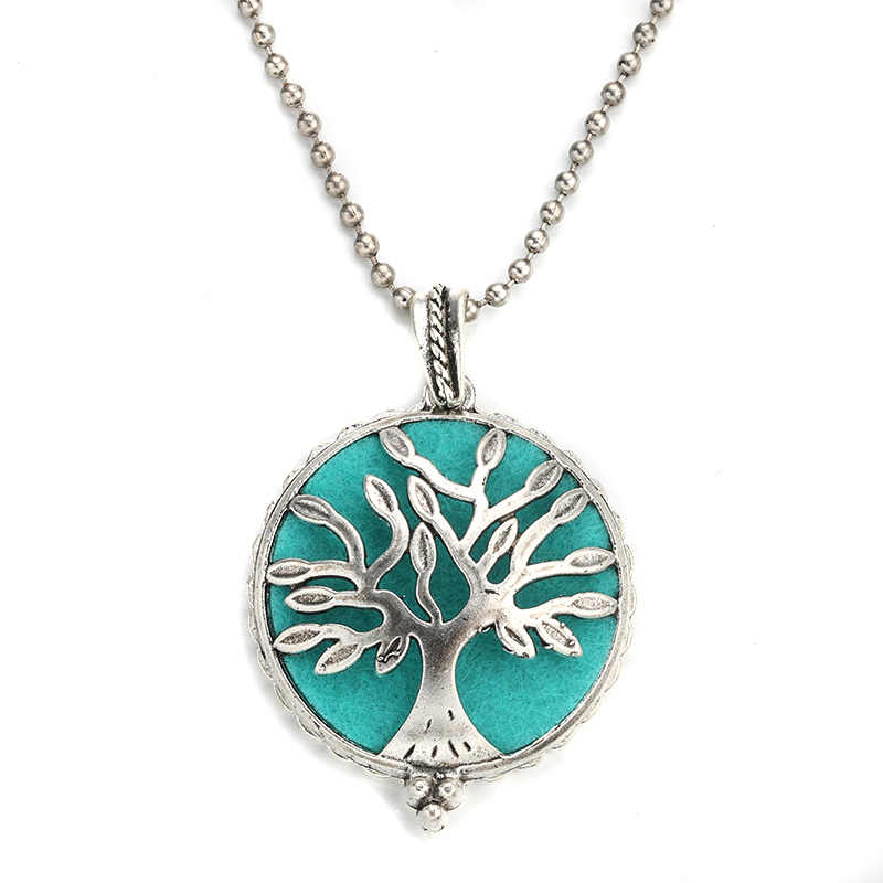 MODKISR Fashion 30mm Tree Of Life High Qualit Magnetic Aromatherapy Diffuser Jewelry Locket Pendant Essential Oil Scent Necklace