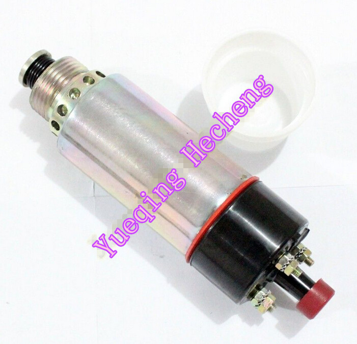 Fuel Shutdown Stop Solenoid 155-4652 8C-3663 24V 125-5772 3924450 2001es 12 fuel shutdown solenoid valve for cummins hitachi