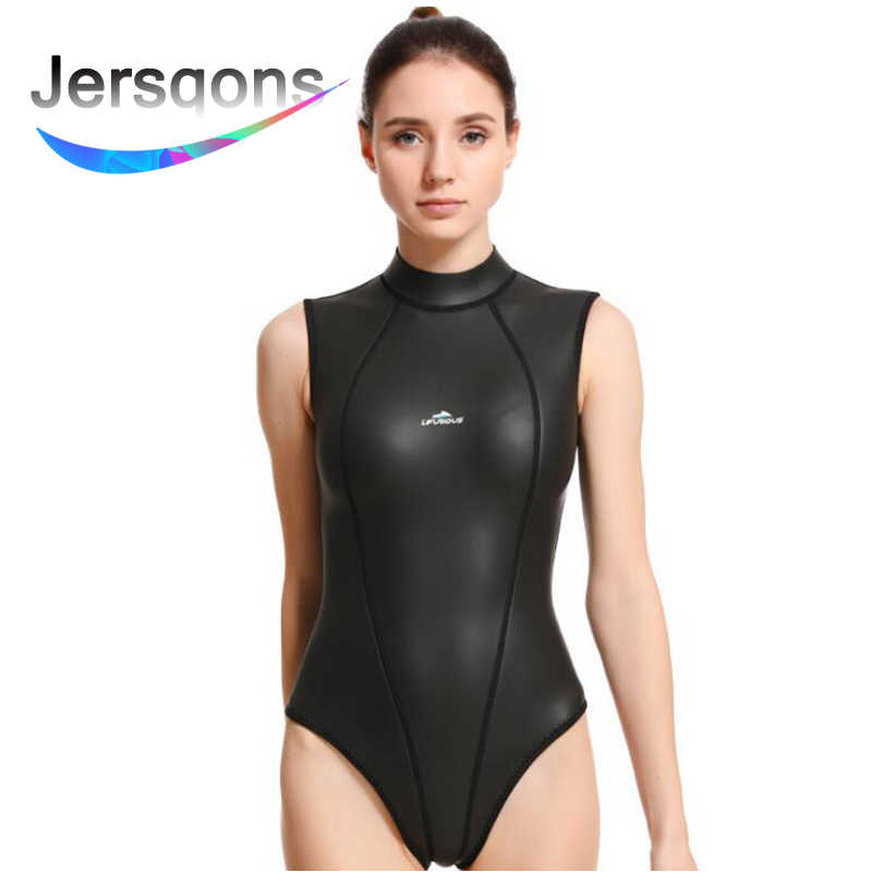 Jersqons 3mm elástico CR smootskin mujeres SCS neopreno traje de buceo impermeable chaqueta Shorts surf Snorkeling