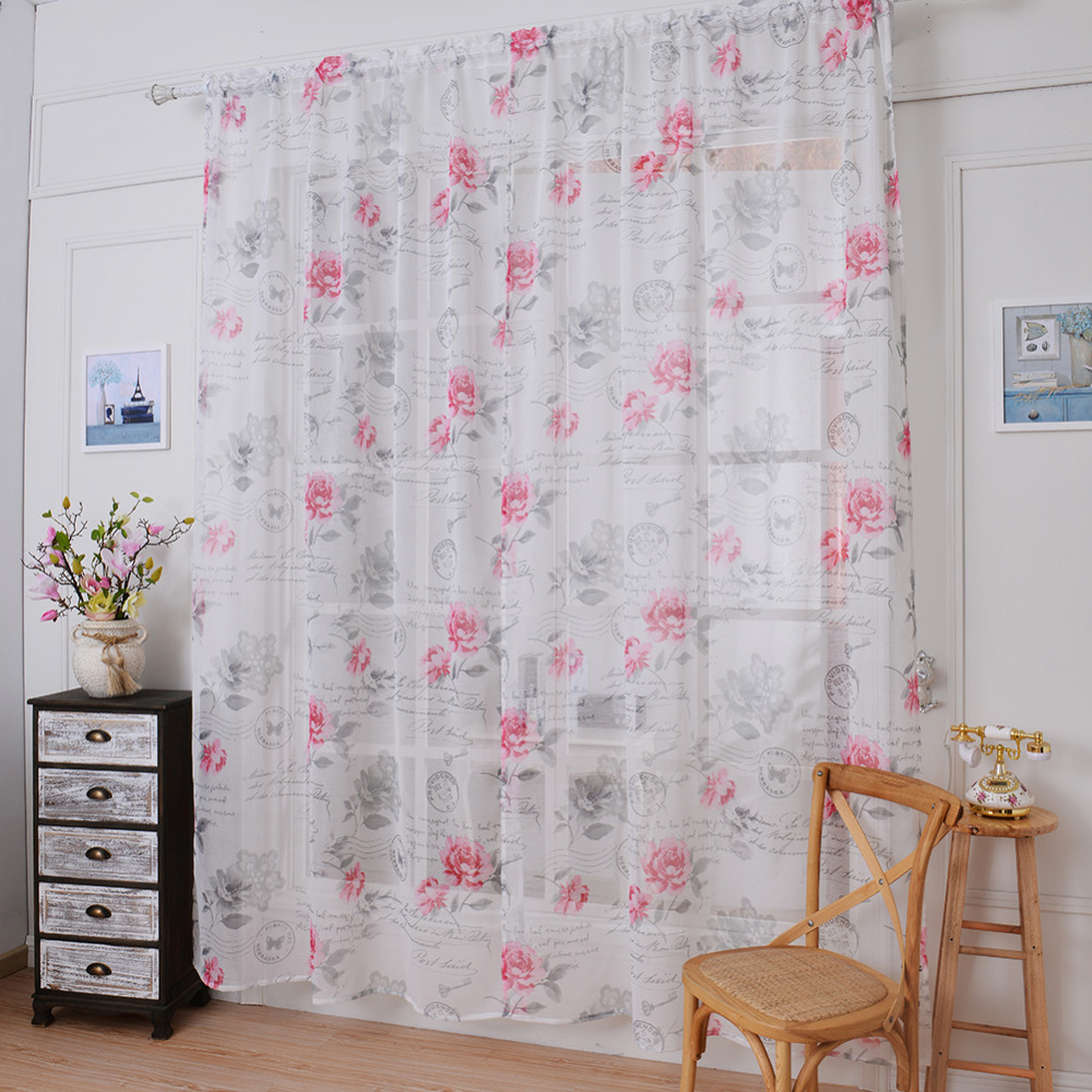 High Quality 1 pcs 0 8   1 m Window Curtains Sheer Voile Tulle Curtain Fruit  Printed For Bedroom Living Room Kitchen DecorationOnline Get Cheap Fruit Kitchen Curtains  Aliexpress com   Alibaba  . Kitchen Curtains Fruit Design. Home Design Ideas