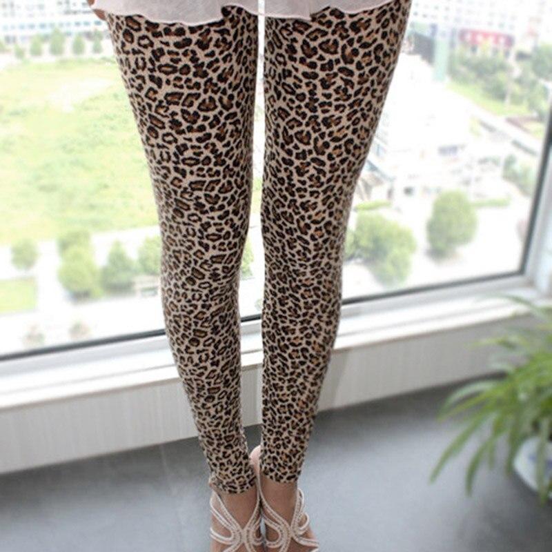 Stylish Sexy Women Girls Leopard Stretch Leggings Ninth Pants 88 QL Sale