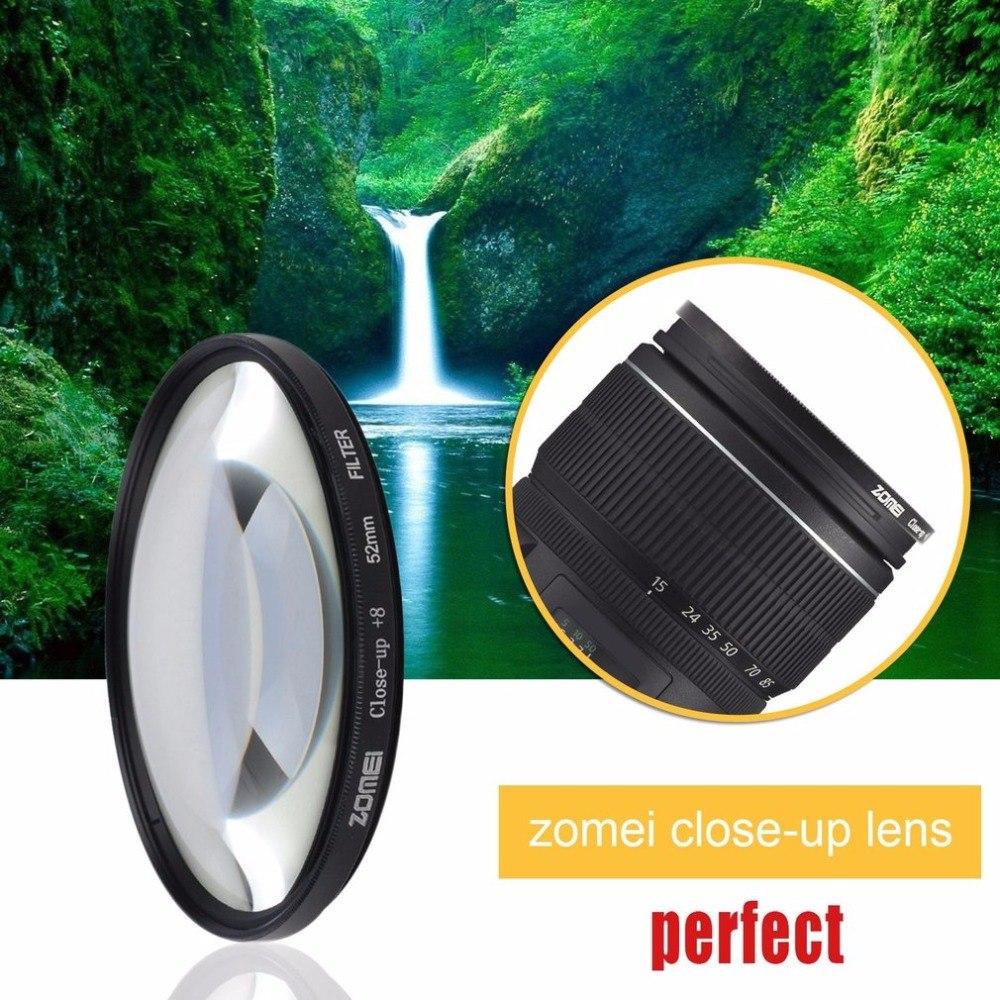 Zomei Macro Close Up Filter +8 For Sony For Nikon For Canon Photographing Macro Lens Photo Circular Filter Camera Accessories