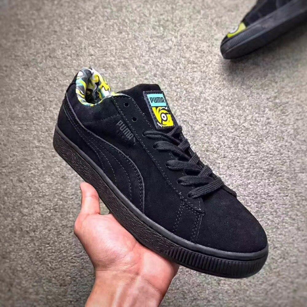 762cb79311d005 2018 Original PUMA X MINIONS SUEDE Unisex  Men s  Women s Sneaker Classic  Sneaker Badminton Shoes
