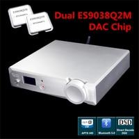 DAC Decoder ES9038Q2M *2 XMOS XU208 DSD256 32Bit 384Khz CSR8675 Bluetooth 5.0 APX HD Support Coaxial Optical USB Input