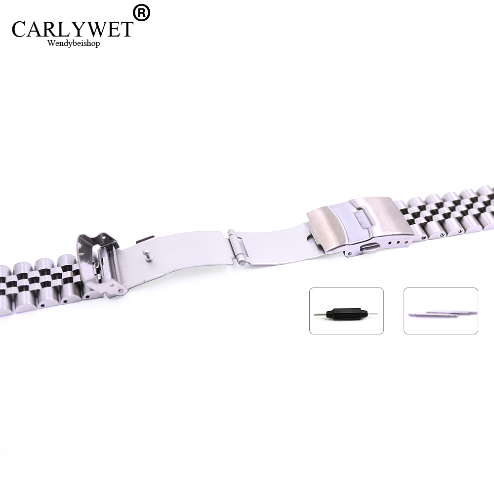 22 mm Hollow Curved End Solid Screw Links Acero inoxidable Plata - Accesorios para relojes - foto 4